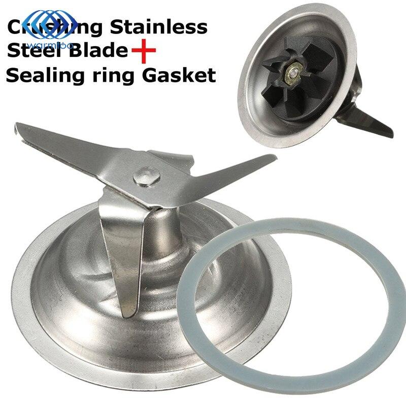Durable Stainless Steel 304 Chrome Blender For Cross Blade Cutter + Rubber Gasket O Ring Seal For Black/Decker
