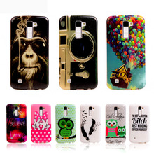 For LG K7 K8 K10 Case Fashion TPU Silicone Cover For LG K7 M1/ LG K8 Lte K350/ LG K10 M2 Skin Back Cases Retro Mobile Phone Bag
