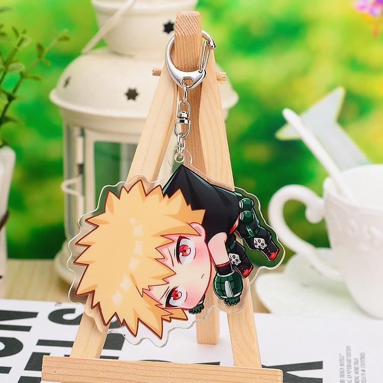 Anime My Hero Academia Todoroki Shoto Bakugou Katsuki Acrylic Keyring Pendant Bag Phone Pendant Gift