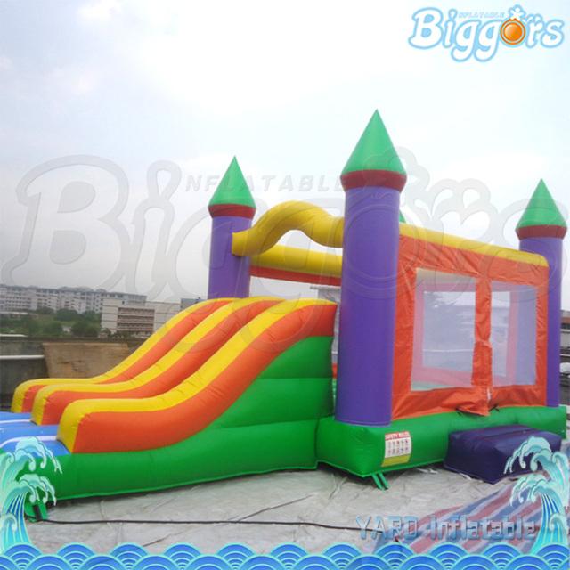 Barato Grande Inflável Saltando Castelos Combo com Slide para Empresa de Aluguer