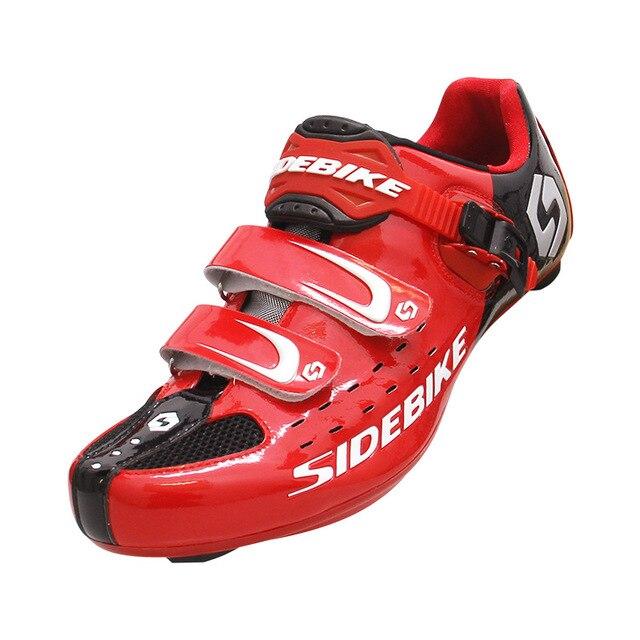 Sidebike sapatos profissionais para ciclismo, antiderrapante, com cadarço, para bicicleta atlética, confortável, bicicleta de estrada 2