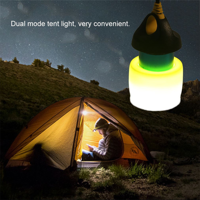 1pc Portable Dual Mode Waterproof Led Usb Camping Tent Light Outdoor Hanging Lamp Night Bulb 200 Lumens