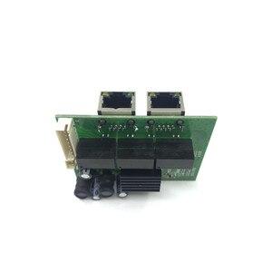 Image 3 - المصنع مباشرة مصغرة سريع 10/100/1000 ميغابت في الثانية 2 منفذ إيثرنت شبكة lan محور لوحة توزيع اثنين من طبقة pcb 2 rj45 1 * 8pin رئيس ميناء