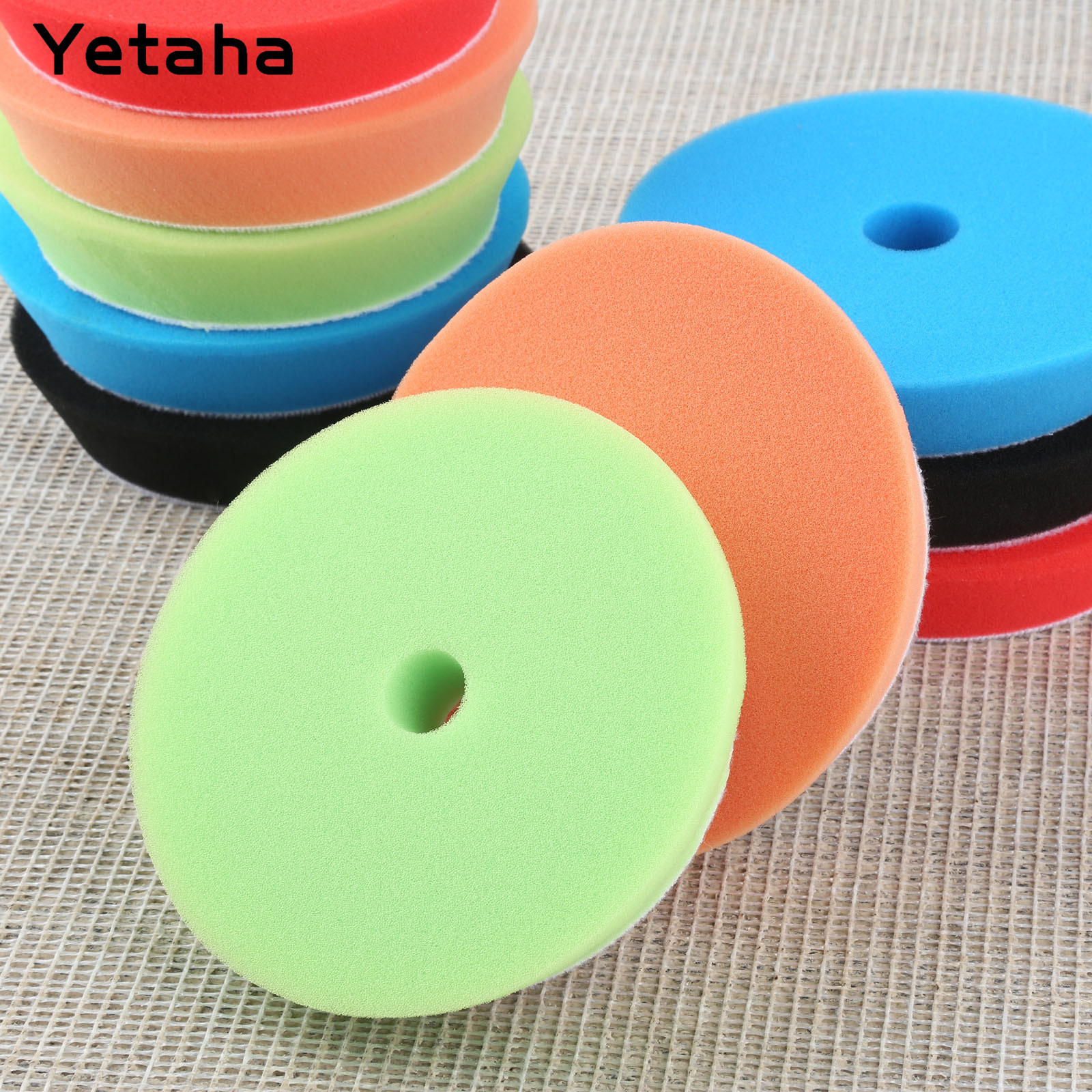 Image 5 - Yetaha 5Pcs 6inch 150mm Car Polishing Buffing Sponge Pads Set Car Wash For Car Polisher Cleaning Detailing Polishing Tool-in Sponges, Cloths & Brushes from Automobiles & Motorcycles