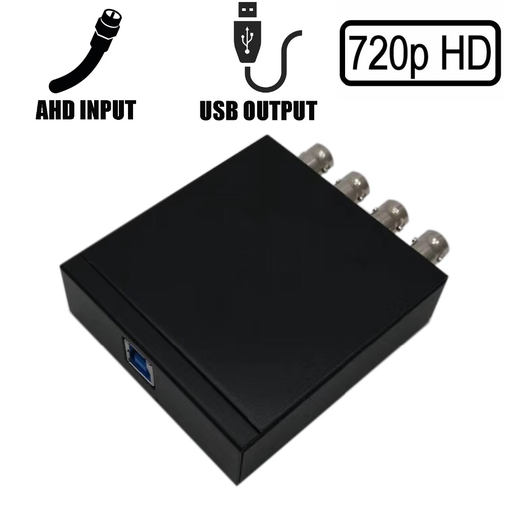 4CH 720P AHD to USB 3 0 Capture Card UVC Playback Card for Live Streaming Support