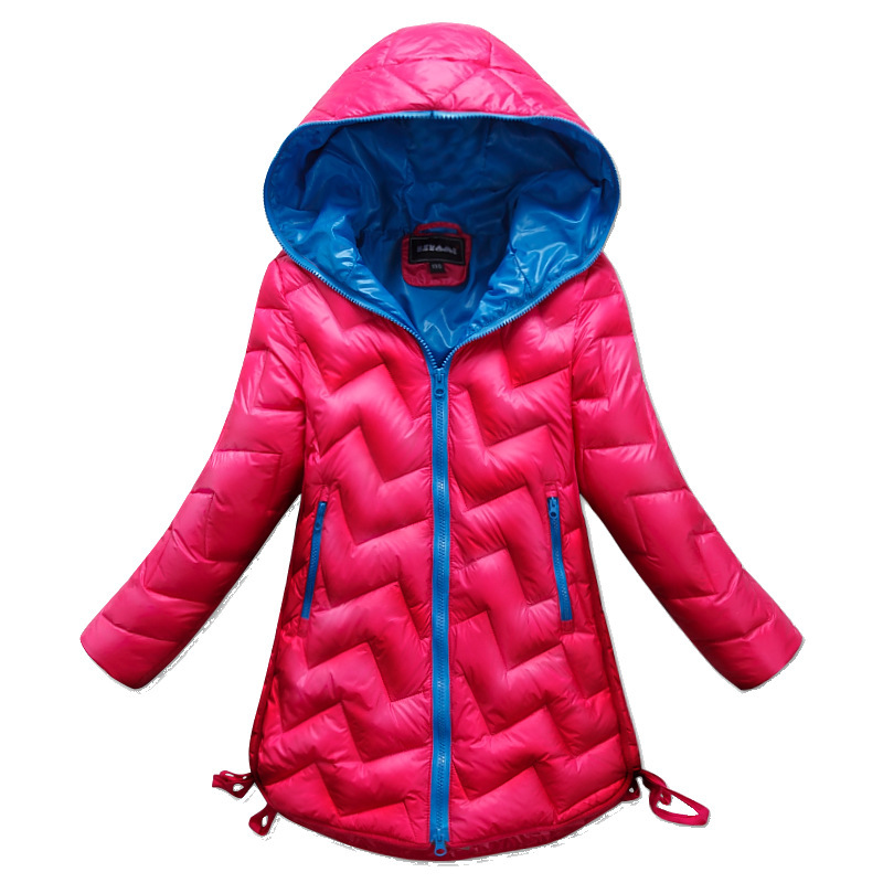adaab0c94e564 US $31.68 |Children's Girl 80% down winter jackets kids coat long model  winter clothing Outerwear Coats extra thick warm duck down jacket-in Down &  ...
