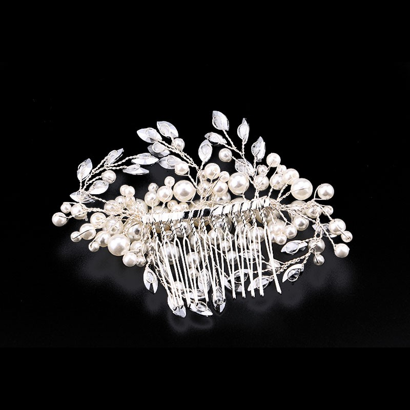 HTB1oFnPOXXXXXb6XpXXq6xXFXXXm Romantic Flower Bouquet Rhinestone Crystal Pearl Hair Jewelry For Wedding/Prom/Party