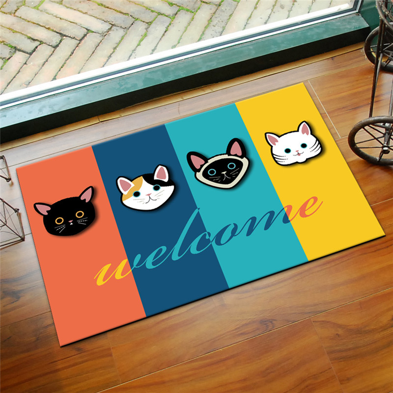 3D Printed Bathroom Mat Rug Kit Non-slip Bath Mats Floor Carpet Pet Pad Large Size Door Floor Seat Mattress for Decor Doormats