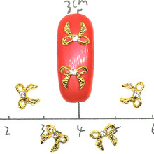 10 Pcs/bag Nail Jewelry Alloy Silver Diamond Bow Shining 3D Nail Art Decoration Nail Design New decor Acessorios mix design 100pcs new 3d silver red alloy rhinestone bow tie nail art decoration diy charm nail jewelry accessories ml153 ml170