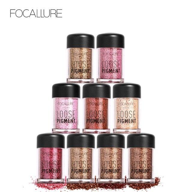 FOCALLURE 18 colors Glitter Eyeshadow powder good pigmented professional eyeshadow waterproof Glitter powder Glitter makeup
