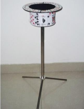 Collapsible Card Top Hat Stand - Side Table, Magic trick,illusions,magic table,close up,comdy,props,Magia Toy,Joke,Classic Magie aluminum alloy magic folding table blue black bronze color poker table magician s best table stage magic illusions accessory