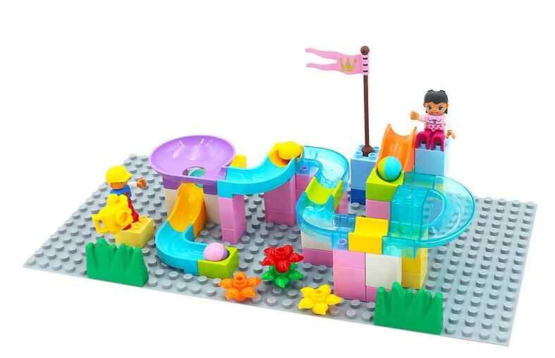 Крупные частицы Diy строительные блоки мраморный трек Run лабиринт мяч Трек аксессуары совместимый с legoingly Duplo игрушки Дети GYH