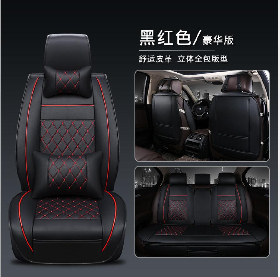 fit car seat cover for Subaru Forester 2009/2013/2016 seat covers set for cars PU leather seat cushion support headrest