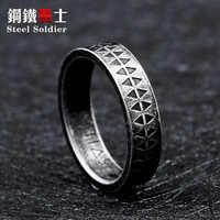 Stahl soldat mode einfachen ring für frauen und männer beliebte heißer verkauf viking stil schmuck