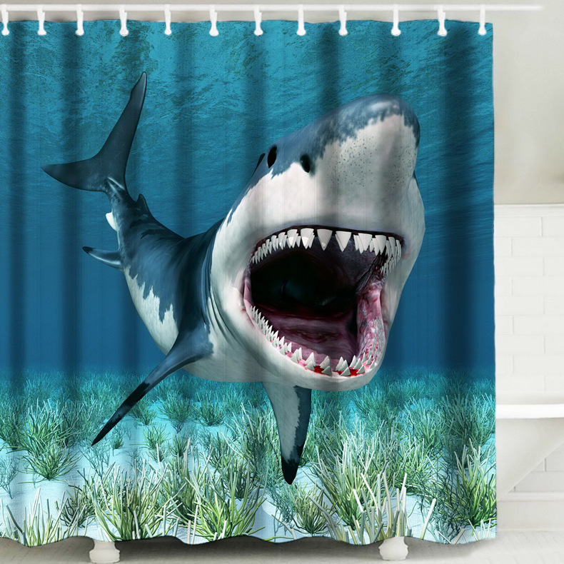 Colorful Beach Conch Starfish Shell Sea Polyester Washable Bath Shower Curtains Cortina Ducha rideau de douche douchegordijn