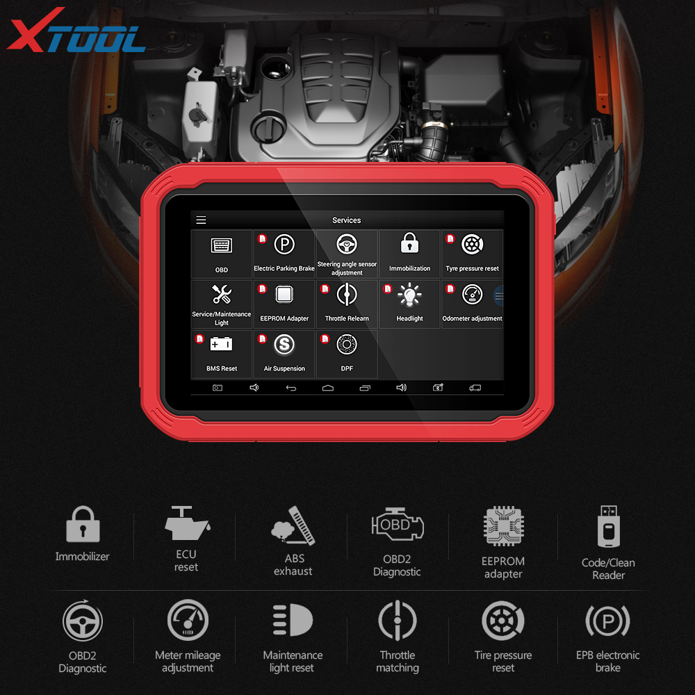 X100 PAD2 OBD2 Diagnostic Tool with 4th and 5th Immo auto Key programmer All Special functions for most of the car models-in Auto Key Programmers from Automobiles & Motorcycles    3