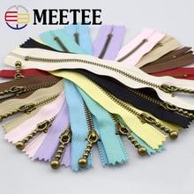 20pcs Meetee 3 # Bronze Metal Zipper 15cm Close-end Zippers for Sewing Bag Clothes Pocket Zips DIY Garments Accessories A4-15