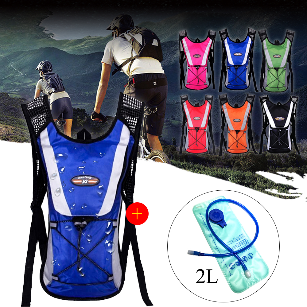 Vertvie Cycling Backpack 2L Water Bladder Bag Mountaineering Water Bags Outdoor Tools Climbing Camping Travel Hiking Bag