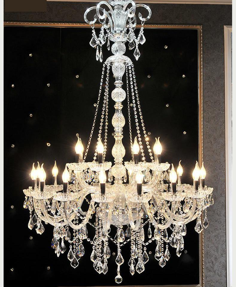 Duplex house Large Led Lustre church Chandelier crystal lighting for living room hotel Hall Long big Chandelier E14 Lampadari цена