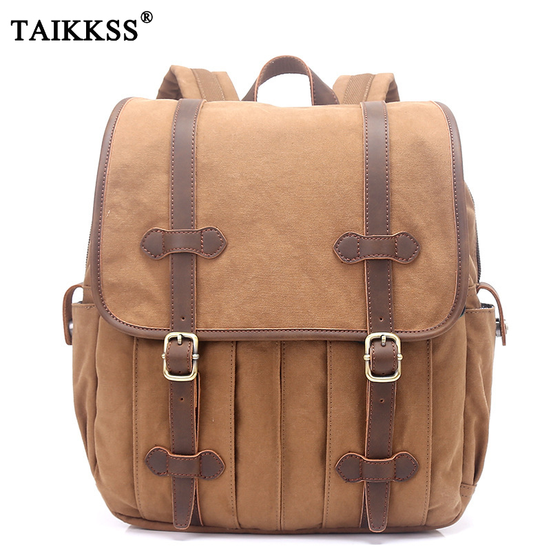 2018 Fashion vintage canvas Multifunctional Backpack Unisex High-quality 14 laptop Bag men backpack school bag rucksack daypack стоимость