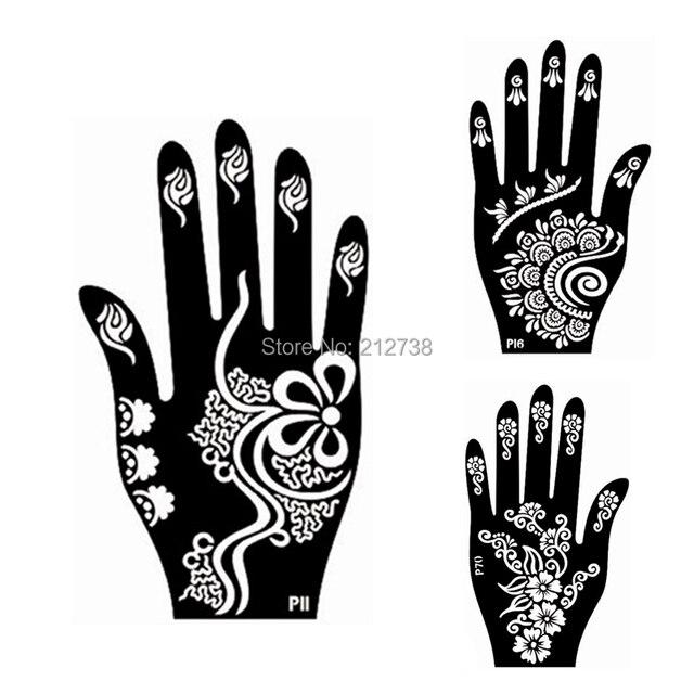 Online Shop 10Pair Henna Left Right Hand Tattoo Stencil Indian - tattoo template