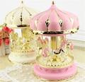 Pink Luminous Music box  musical box for Home Decor Musicbox Christmas gift