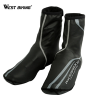 WEST BIKING Waterproof Cycling Shoe Cover Reflective Ciclismo Thermal MTB Road Bicycle Bike Overshoes Riding Cycling