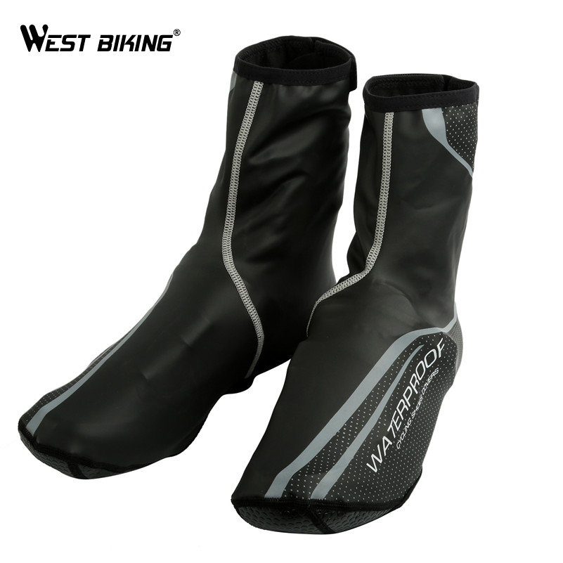 WEST BIKING Waterproof Cycling Shoe Cover Reflective Ciclismo Thermal MTB Road Bicycle Bike Overshoes Riding Cycling Shoes Cover