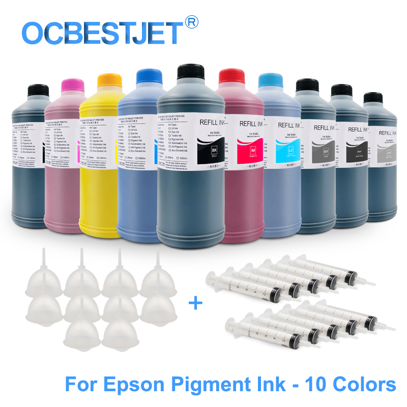 US $24 58 |1000ML Universal Refill Pigment Ink For Epson SureColor P10000  P10070 P10080 P20000 P20070 P20080 Printer (10 Colors Options)-in Ink  Refill
