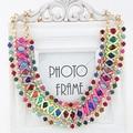 2015 Fashion Women's Rhinestone Braided Pendant Collar Statement Chain Charm Necklace Jewelry  73ZA