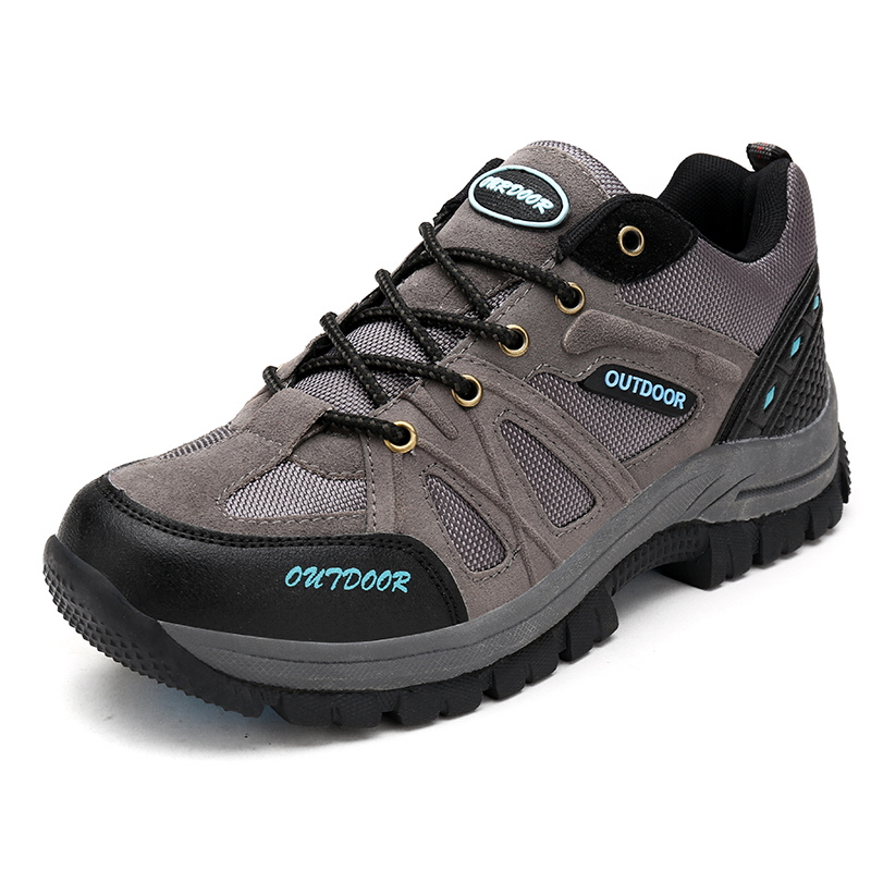 Mens Outdoor Boots Hiking Climbing Shoes Big Size Mountain Shoes Trekking Sneakers Gray/Brown Hunting Boots Size 11 12 Men Shoes ifrich hiking shoes men outdoor climbing trekking sneakers spring autumn mountain walking shoes leather blue gray hunting boots