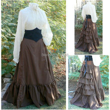 Victorian Corset Gothic/Civil War Southern Belle Ball Gown Dress Halloween dresses US 4-16 R-355