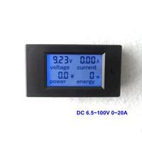 DC 6 5 100V 0 20A Digital LCD Voltmeter Ammeter Power Energy Meter Module Shows V