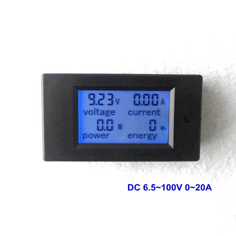 DC Voltmeter Ammeter DC 6.5~100V 0~20A Digital LCD Display Voltage Detector Current Tester <font><b>Battery</b></font> Indicator Power <font><b>Energy</b></font> <font><b>Meter</b></font>