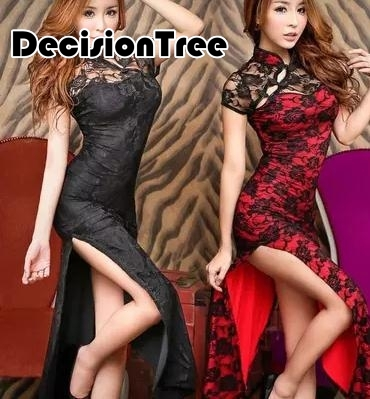 2019 Designer Lace Sexy Hollow Out Long Chinese Traditional Cheongsam Evening Party Wedding Vestidos Slim Retro Dress