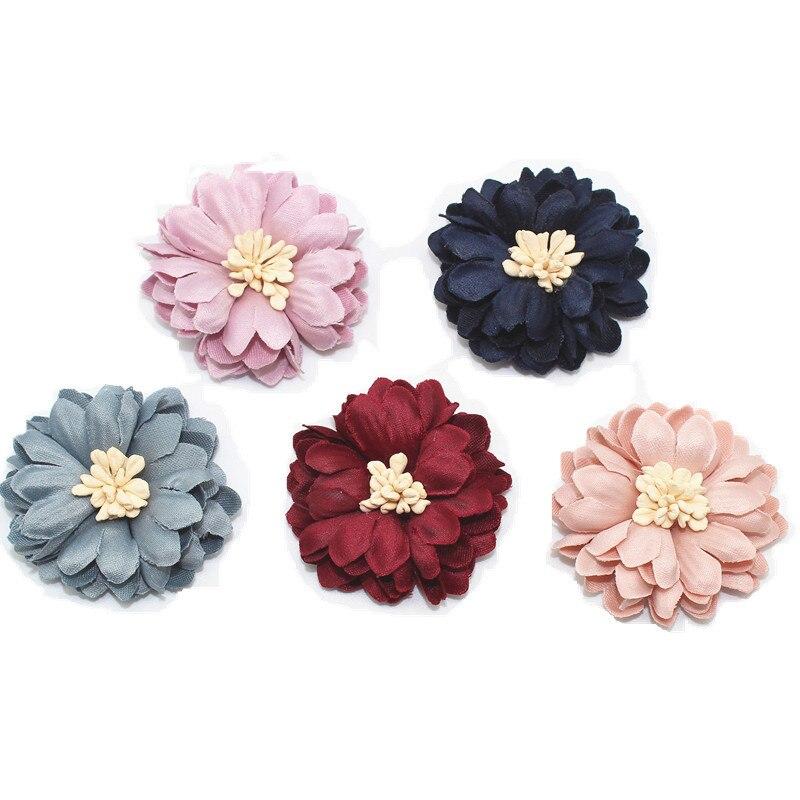Korean Version Super-fibre Fabric DIY Handmade Flower Ornaments Accessories Chrysanthemum Perianth Flower Accessories