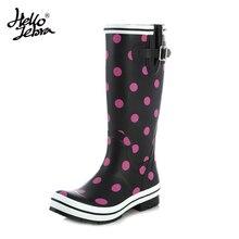 Hellozebra Women Rain Boots knee High Water Shoes Botas feminina thigh high booties Platform boots Thigh Fall Rubber 2017 New