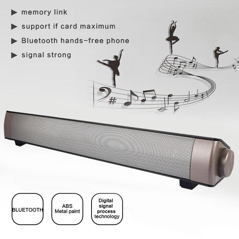 Bluetooth4.0 + EDR Bluetooth Haut-Parleur de Barre De Son TF Mp3 Lecteur Téléphone Portable Subwoofer Portatif Fixé Au Mur