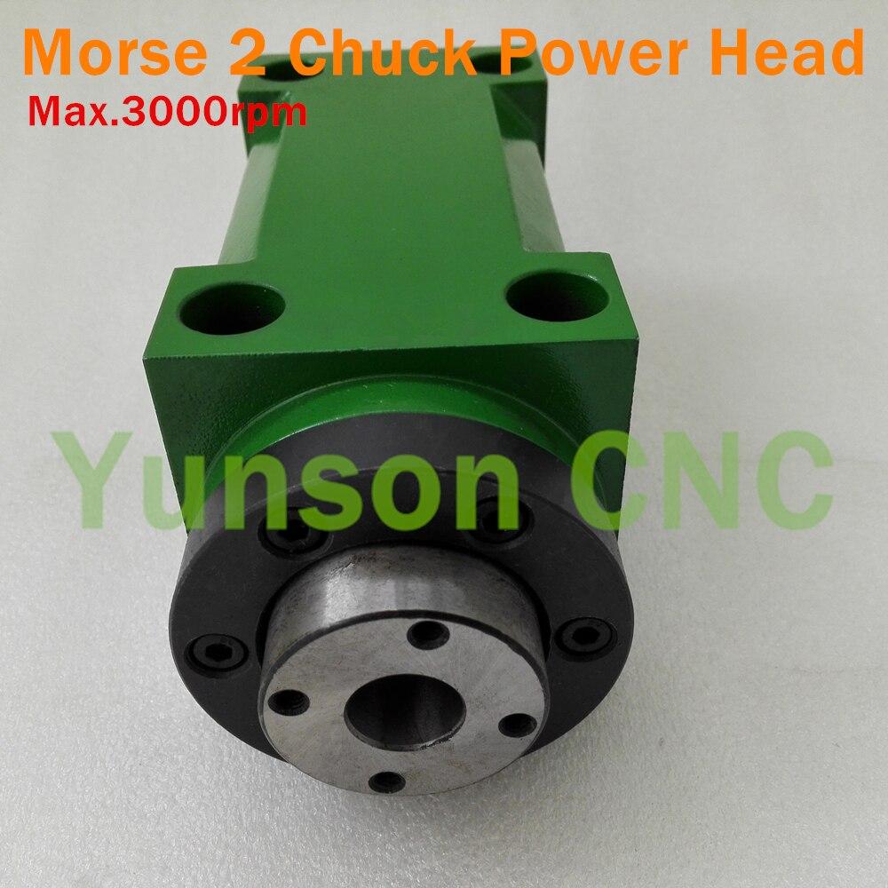 Morser 2 MT2 Taper Chuck 1500W 1 5KW 2hp Max 3000rpm Power Head Machine Tool Spindle