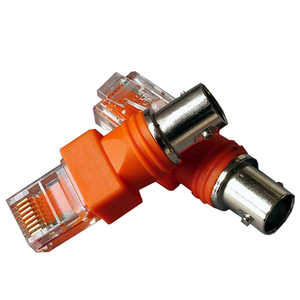 1pcs BNC Female to RJ45 Male Coaxial Coax Barrel Coupler Adapter RJ45 to RF Connector(China)