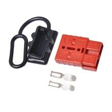 O cabo da bateria de 50a 600 v conecta rapidamente o jogo 12 24 v do conector do guincho da recuperação da desconexão da tomada do chicote de fios do fio