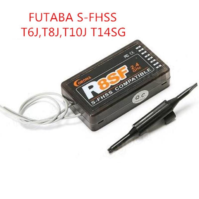 CORONA 2.4G R4SF R6SF R8SF receiver compatible FUTABA S-FHSS T6 14SG remote control transmitters free shipping sf800 2 4ghz mini s fhss fpv receiver rx futaba remote controller s bus sbus cppm compatible 8 channels