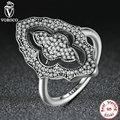 2017 New Collection Authentic Sparkling Lace Ring with Clear CZ Ring Compatible with VRC 925 Sterling Silver Jewelry A7153