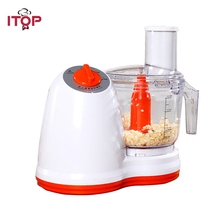 ITOP Multifunctional Electric Vegetable Cutter Potato Carrot Onion Slicer Pepper Meat Chopper Garlic Peeler Food Processors