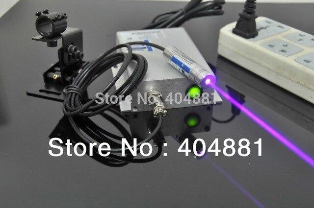 405-420nm 350mW focusable blue violet laser diode module(lab class)+power adapter(220V)laser bracket + safey glasses, Plug & use