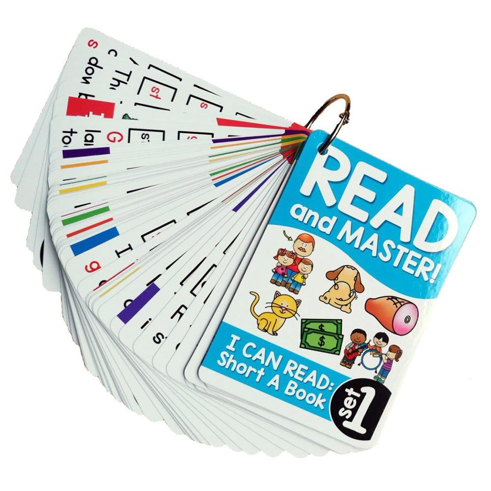 107 grupos/set Roots inglés fonics tarjetas Flash niños Montessori juegos de aprendizaje juguetes educativos para la enseñanza del SIDA regalo del bebé