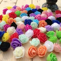 Искусственный цветок ПЭ пена Роза поддельные бутоны для медведь розы Diy ВЕНОК свадебное украшение подарки медведи интимные Аксессуары 100 шт