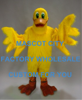 Best Big Yellow Mascot Lucky Duck Mascot Costume Adult Cartoon Character Outfit Suit Fancy Dress for Carnival Party Cosply SW773