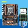 Скидка X79 материнской платы с M.2 слот HUANANZHI deluxe X79 LGA2011 материнской платы с Процессор Xeon E5 2690 2 9 ГГц Оперативная память 16 г (4*4G) RECC