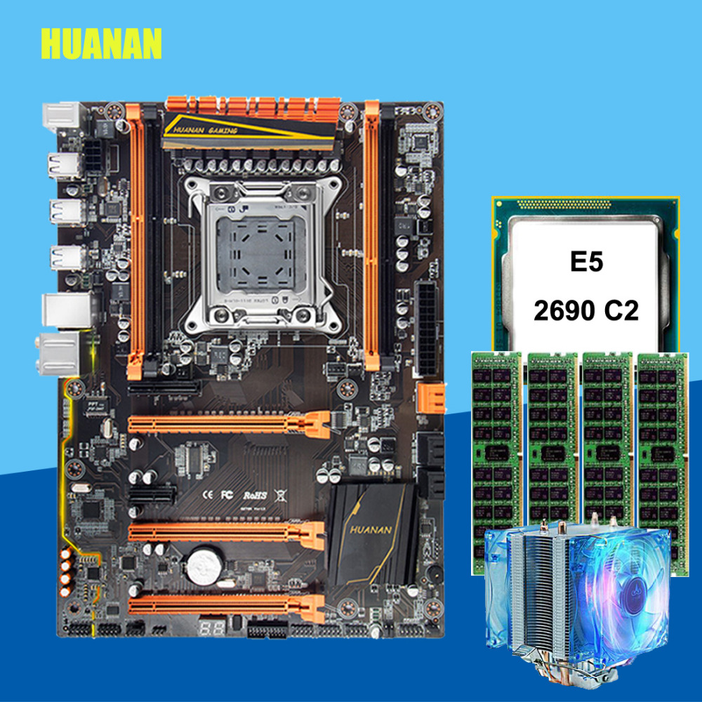 Desconto X79 motherboard com slot M.2 HUANANZHI deluxe X79 LGA2011 16 E5 motherboard com CPU Xeon 2690 2.9 GHz RAM G (4*4G) RECC